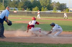 Riley Smith slides home